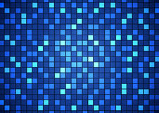 Abstract square pixel mosaic background. Vector illustration Royalty Free Stock Photography