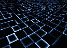 Abstract square pixel mosaic blue background Royalty Free Stock Photography