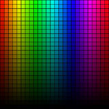 Abstract square pixel mosaic , spectrum tone Stock Images