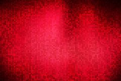 Abstract square polka dots on dark red background.  Royalty Free Stock Images