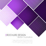 Abstract square purple background. Vector Illustration Stock Photo
