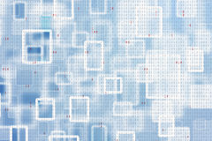 Abstract square and rectangle binary code illustration Stock Image
