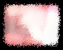Abstract square rectangle pixel pink red and white backdrop computer background illustration. Abstract square rectangle pixel pink red and white backdrop Royalty Free Stock Photos