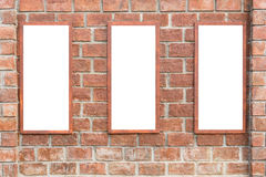 Abstract square red brick wall with white empty space for design Stock Images