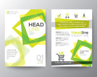 Abstract square shape background for Poster Brochure Flyer design Royalty Free Stock Photos