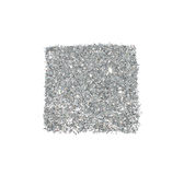 Abstract square of silver glitter sparkle on white background for your design Royalty Free Stock Images