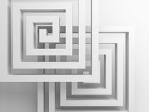 Abstract square spirals over white, 3 d. Abstract square spirals over white background, 3d render illustration vector illustration