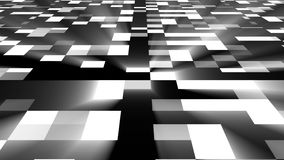 Abstract square technology background with bright flare, 3d render backdrop, computer generated digital art. Abstract square technology background with bright stock illustration