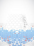 Abstract square technology background. Stock Photography