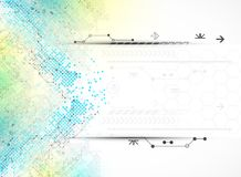 Abstract square technology concept of business background. Royalty Free Stock Photos