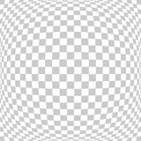 Abstract square tile perspective fish eye lens white and gray te Stock Images