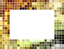 Abstract square tiled mosaic frame Stock Images