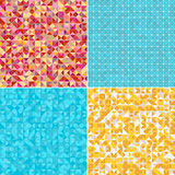 Abstract square and triangle background Stock Images