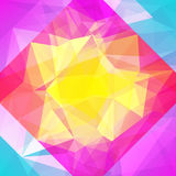 Abstract square triangle background. Stock Photos