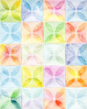 Abstract  square watercolor paint background Stock Images