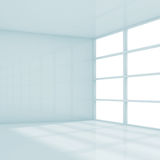 Abstract square white interior, empty room 3d Stock Image