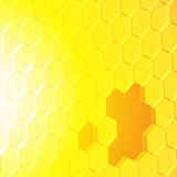Abstract square on yellow orange background Royalty Free Stock Photography