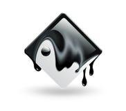 Square yin yang Royalty Free Stock Photos
