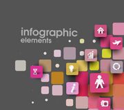 Abstract squares background illustration Stock Photography