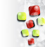 Abstract squares background for your advertise car Stock Image