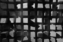 Abstract squares black and white texture background royalty free stock photography