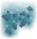 Abstract squares blank blue background Royalty Free Stock Photography