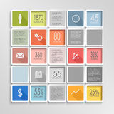Abstract squares colorful info graphic template vector illustration
