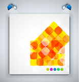 Abstract squares geometrical modern template. Abstract squares geometrical vector modern template royalty free illustration