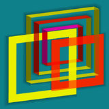 Abstract squares Royalty Free Stock Photography