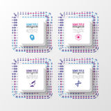 Abstract squares. Infographic template. Modern design. Vector illustration Stock Images