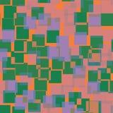 Abstract squares pattern. Orange geometric background. Pleasing random squares. geometric chaotic decor. Vector illustration Royalty Free Stock Photo