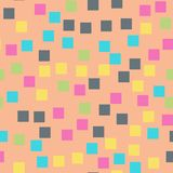 Abstract squares pattern. Pink geometric background. Pleasing random squares. geometric chaotic decor. Vector illustration Stock Images