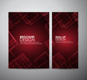 Abstract squares pattern. Brochure business design template or roll up. Stock Photo