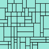 Abstract squares pattern on a light blue background Royalty Free Stock Photos