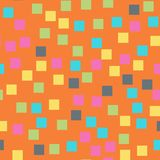 Abstract squares pattern. Orange geometric background. Pleasant random squares. geometric chaotic decor. Vector illustration Stock Images