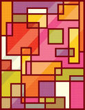 Abstract Squares Pop Art Stock Image