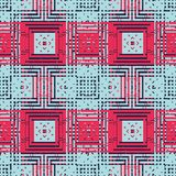 Abstract squares seamless pattern Royalty Free Stock Images