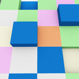 Abstract squares. on white background Stock Images