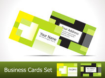 Abstract squre business card Stock Images