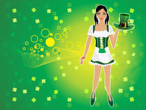 Abstract st patrick background Royalty Free Stock Image
