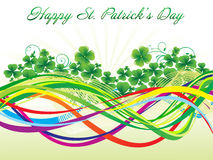 Abstract st patrick background Stock Photography