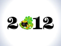 Abstract st patrick based new year text template Stock Photography