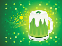 Abstract st patrick beer background Royalty Free Stock Images
