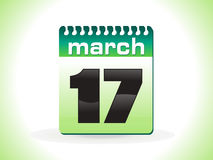 Abstract st patrick calender Stock Photography