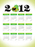 Abstract st patrick calender Royalty Free Stock Images