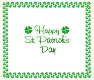 Abstract st patrick clover border. Illustration vector illustration