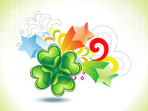 Abstract st patrick clover explode Royalty Free Stock Photos