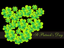Abstract st patrick clovers background Stock Photo