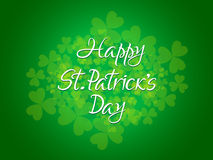 Abstract st patrick day text Stock Image