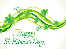 Abstract st patrick day wave Royalty Free Stock Images